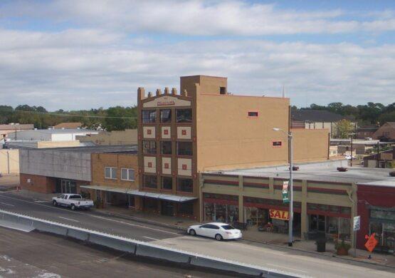 Buildings on Main Street in Livingston Texas | Foundation Repair Livingston TX